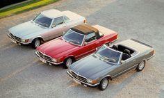 Set of Mercedes R107s, cool European versions