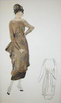 Watercolor, graphite, and ink on paper. x 26 cm. Received through JRSO (Jewish Restitution Successor Organization). Photo © The Israel Museum, Jerusalem. Vintage Clothing, Vintage Outfits, Workshop Organization, Jerusalem, Graphite, Beautiful Images, Israel, Fashion Art, Museum