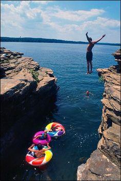Swimming at Greers Ferry Lake in Heber Springs, AR. #VisitArkansas