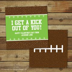 Printable football Valentine's Day Card  I get by saralukecreative, $8.00