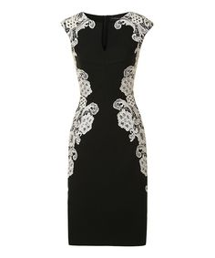 Another great find on #zulily! Black & Cream Lace Amber Dress by London Dress Company #zulilyfinds