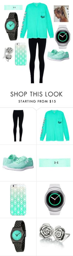 """""""Work out"""" by galaxygirl12427 ❤ liked on Polyvore featuring NIKE, Victoria's Secret, Under Armour, Casetify, Samsung, Nixon and Chamilia"""