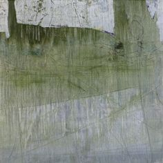 Absence with Green oil and graphite on panel 23 x 23 inches, 2007-13