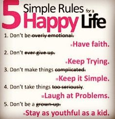 Are you truly living the Happy Life?  Be honest!  #honestliving #happylife #simplerules #5simplerules #5simplerulesforhappiness #5simplerulesforahappylife