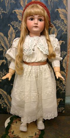 "Large & Luscious 33"" Early Kestner Antique Doll In Gorgeous All from kathylibratysantiques on Ruby Lane"