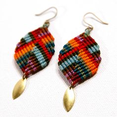 Dancing Leaf Earrings Multi  by AMiRA jewelry