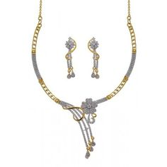 Pearls Cart Zircon Studded Royal Necklace Set #necklaceset