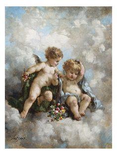 Cherubs in the Clouds Giclee Print