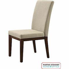Martha Stewart Home Office Blair Chair, Walnut Brown