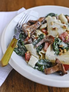 Recipe of the week: 'Deconstructed Lasagne with Creamed Spinach, Chanterelles and Pine Nuts' - Blog Post