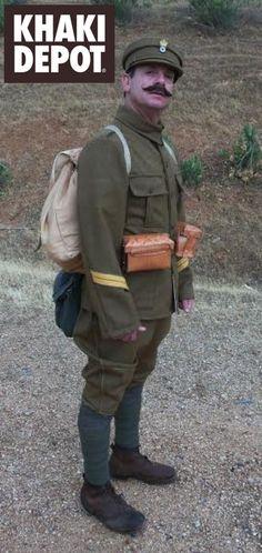 Macedonian front, 1st WW. Reenacting a Greek  sergeant.