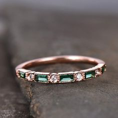 Emerald Wedding Band Half Eternity Band Art Deco S Eternity Ring Diamond, Eternity Bands, Diamond Bands, Emerald Band, Emerald Wedding Rings, Emerald Cut, Emerald Gemstone, Sapphire Wedding, Emerald Diamond