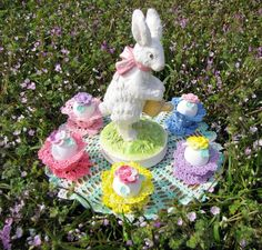 BellaCrochet: Easter Garden Doily: A Free Crochet Pattern For You