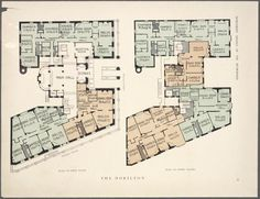 10 Elaborate Floor Plans from Pre-World War I New York City Apartments: The Dorilton | Mental Floss