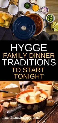 Hygge Family Dinner Traditions to Start Tonight will give you ideas on how to use dinner time to connect with your family. The hygge lifestyle is all about cultivating closeness with your loved ones. Why not start at the dinner table? #hyggeideas #hyggelifestyle #hyggelife