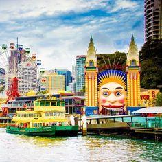 Luna Park in Sydney #sydneylove