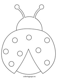 Ladybug crafts - Ladybug outline clipart coloring page Applique Patterns, Quilt Patterns, Applique Templates, Owl Patterns, Templates Printable Free, Felt Crafts, Easter Crafts, Ladybug Coloring Page, Decoration Creche