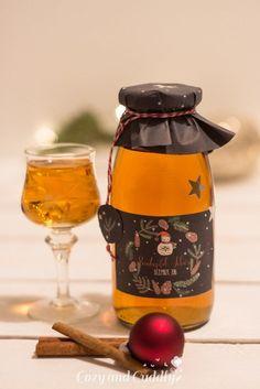 Advent: Rezept für Bratapfel-Likör mit Etiketten zum Ausdrucken, cozy & cuddly Adventskalender