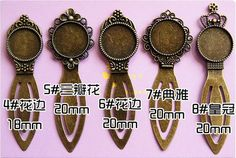 6 pcs Antiqued Bronze Color Metal Bookmarks with 18x25mm by ZHHX