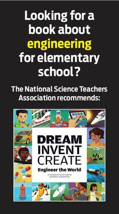 The NSTA recommends this book for learning about engineering in elementary school.