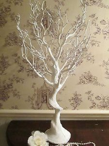 Wedding Wishing Tree Vintage Manzanita White 110 Cms Birdcage Decorations Droplets