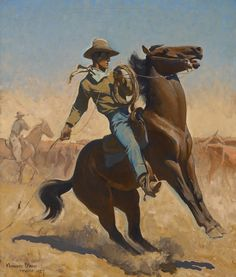 Maynard Dixon - Cowpuncher http://www.artfixdaily.com/artwire/release/3713-jackson-hole-art-auction-an-auction-of-past-and-present-masters-o