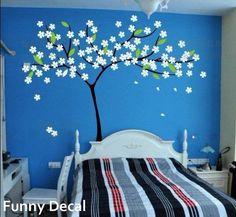 Cerisiersautocollants+vinyle+Wall+Decal+arbre+mural+par+FunnyDecal,+$52.00