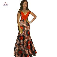 African Clothing For Women Dashiki Bazin V-Neck Long Dress Cotton Print Custom Made – African Fashion Dresses - African Styles for Ladies Long African Dresses, Latest African Fashion Dresses, African Print Dresses, African Print Fashion, Africa Fashion, African Dashiki, African Traditional Dresses, African Attire, African Outfits