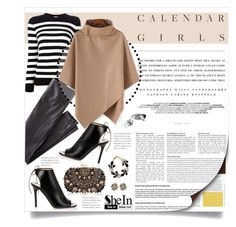 """""""Calendar Girls - with SheIn"""" by federica-m ❤ liked on Polyvore featuring Kerr®, Yves Saint Laurent, Wrap, Jimmy Choo, Lipsy, River Island, Bobbi Brown Cosmetics, vintage, cape and shein"""