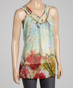 Take a look at this Sienna Rose Green Premonition Tank on zulily today!