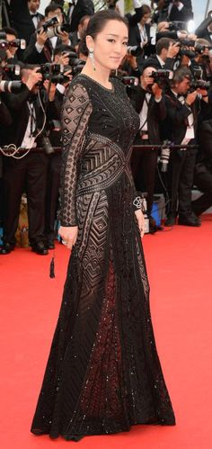 Gong Li Wearing Roberto Cavalli - Cannes 2014