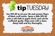 SERVPRO of Keene Use WD-40 to Clean Ceramic and Tile Floors