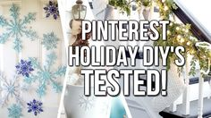 DIY Pinterest Holiday Decor + Food TESTED | Courtney Lundquist flocking, garland, glitter snowflakes,