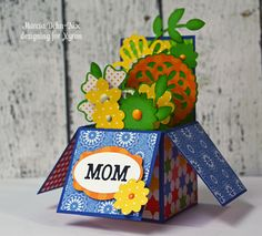 Mom - Floral Box Card - Scrapbook.com - Love this flowers in a box card!