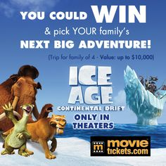 The Valpak Family Adventure Giveaway Sweepstakes..Ice Age(new)