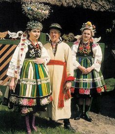 traditional bride from the Lowicki region in Poland