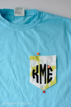 DIY Monogrammed Pocket T-Shirt