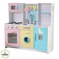 Toy Kitchen Sets - KidKraft 53351 Sweet Treats Pastel Kitchen Toy >>> For more information, visit image link.