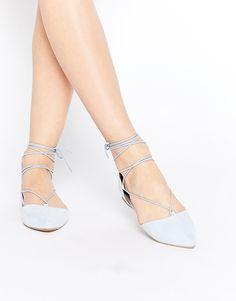 Imagen 1 de Zapatos planos con cordones en color azul claro Ghillie Cinnabar de Call It Spring