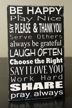 I have seen several of these family rules signs. I really like the subway style ones. Not sure where I would put it...playroom maybe.