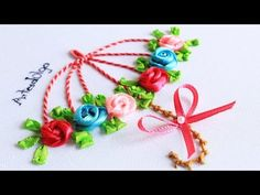 Umbrella Embroidery with Ribbon Roses - YouTube