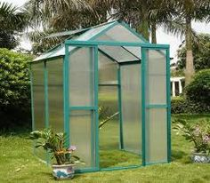 small green houses - so I can have home grown food year around. would want it raised and close to the house. lots of shelving.