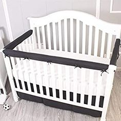 Perfect for your Baby and Nursery Belsden 3 Pack Baby Safe Crib Rail Cover Set for 1 Long and 2 Side Rails, Reversible Breathable Padded Crib Teething Guard and Protector, Measuring up to 8 inches Around, Black and White Color,Belsden 3 Pack Baby Safe Crib Rail Cover Set for 1 Long and 2 Side Rails, Reversible Breathable Padded Crib Teething Guard and Protector, Measuring up to 8 inches...