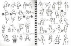 scribble gesture stick figure drawings - Google Search