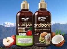 Shop the perfect shampoo and conditioner for beautiful, healthy, long lasting hair. Apple Cider Vinegar Shampoo is the best shampoo for all hair types used every day. Made exclusively by WOW Hair Products. Coconut Oil Conditioner, Shampoo And Conditioner, Wow Hair Products, Skin Products, Hair Remedies For Growth, Hair Growth, Apple Cider Vinegar For Hair, Avocado Hair, Hair Shampoo