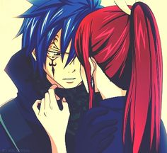 Jellal Fernandes and Erza Scarlet (Jerza) from Fairy Tail. One of my favorite pics of them. Fairy Tail Erza Scarlet, Fairy Tail Lucy, Fairy Tail Jellal, Fairy Tail Amour, Image Fairy Tail, Fairy Tail Ships, Fairy Tail Anime, Nalu, Gruvia