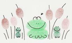 Frog finger print picture