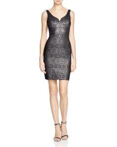 Nicole Miller Sparkle Vines Jacquard Dress | Bloomingdale's