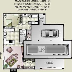 Rv garage home floorplan we love it floorplans for Garage apartment plans rv
