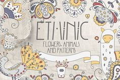 $18 ETHNIC HAND DRAWN ELEMENTS by Luna Dreams on @creativemarket